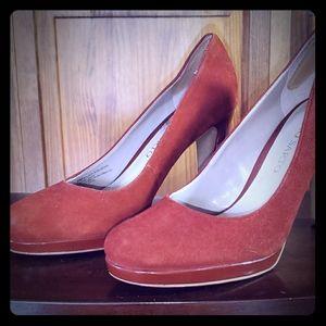 Suede Franco Sarto heels
